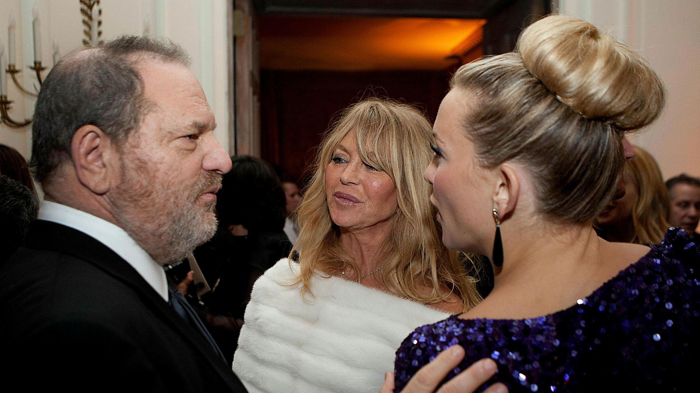 Omfanget og alvorlighetsgraden i Weinstein-historien gjorde Metoo-kampanjen slagkraftig. Her Harvey Weinstein, Goldie Hawn og Kate Hudson.