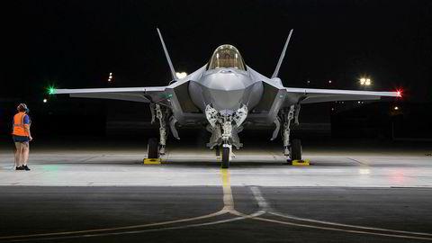 Drivstoffet skal blant annet brukes i norske F-35-fly, her fotografert før avreise fra Forth Worth, Texas.