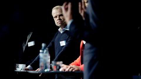 Yara-sjef Svein Tore Holsether deltok onsdag på Pareto-konferansen