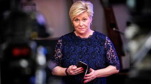 """Frp-leder og tidligere finansminister Siv Jensen advarer mot å la """"fy-listen"""" for Oljefondet bli for lang, og mener det kan få konsekvenser for fondets avkastningsmuligheter."""