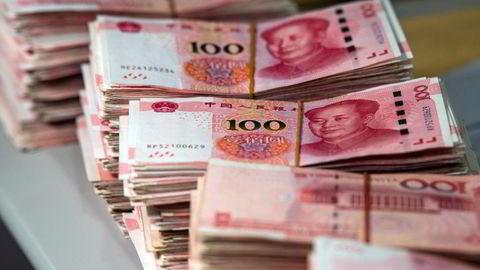 Den kinesiske gjeldsveksten har gått rett til værs de siste 12 årene. Det er høyt mislighold.