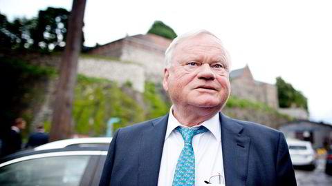 Oslo, 05.06.2013: TradeWinds arrangerer fest på Christian Radich. Her er John Fredriksen på bryggen nedenfor festningen, med kurs for skipet.