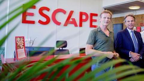 Daglig leder Gunnar Grosvold (til venstre) og eier Per G. Braathen hos turoperatøren Escape Travel.