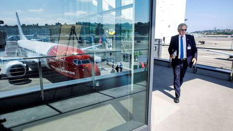 Norwegians irske datterselskap Norwegian Air International havner på 24. plass på listen over punktlighet blant de større europeiske flyselskapene og er dermed tredje dårligst i klassen. Her Norwegian-sjef Bjørn Kjos.
