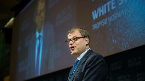 Juha Sipilä, statsminister i Finland. Her under konferansen Arctic Frontiers i Tromsø i 2017.