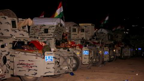 Kampen for å frigjøre Mosul er i gang. På bildet er Peshmerga-soldater samlet øst for Mosul under forberedelsene til frigjøringen. Foto: Azad Lashkari/Reuters/NTB scanpix