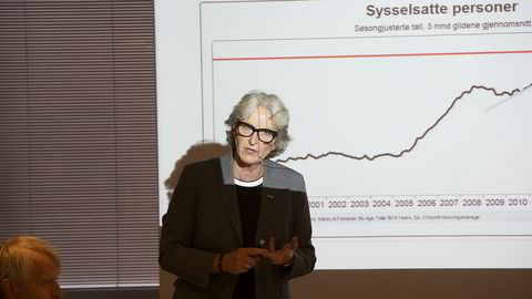 Administrerende direktør Vibeke Hammer Madsen i Virke er bekymret for jobbutviklingen i Norge. Foto: Øyvind Elvsborg