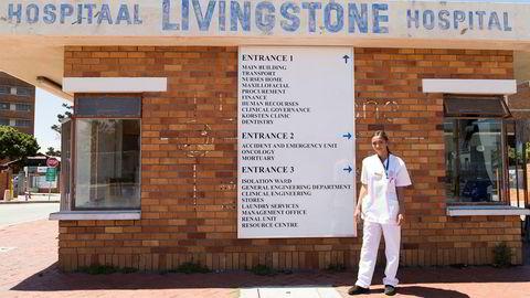 Sykepleiestudent Trine Elisabeth Hansen tror erfaringen hun får med skader og sykdommer i Sør-Afrika gir en bredere bakgrunn som sykepleier i Norge.