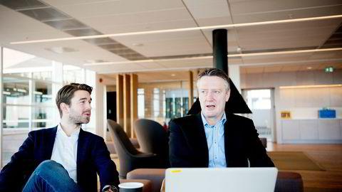Etterspørselen har økt, fordi vi lykkes med å skape innhold som gir tydelig effekt for kundene, sier daglig leder Jonas Ibsen Brynildsrund i VG Partnerstudio (til venstre) Her med innholdssjef Svein Arne Haavik.