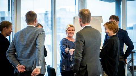 Finansminister Siv Jensen i forbindelse med åpning av nytt boligforskningssenter.