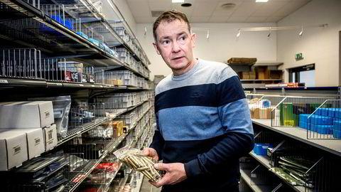 Olav Aas kontrollerer nå nettbutikker i 16 europeiske land gjennom selskapet Brownells Europe as.