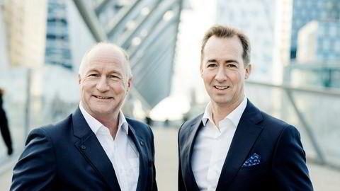 Administrerende direktør Bjørn Tallhaug (til venstre) og markedsdirektør Henning Møllerløkken i Estima har fått med seg over 300 takstforetak som ønsker å gå inn på eiersiden i den nye takstkjeden Estima.