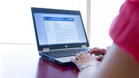 Samordna Opptaks nettsider avbildet. Illustrasjonsfoto: Berit Roald/