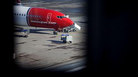 Et Norwegian-fly på Oslo Lufthavn Gardermoen.