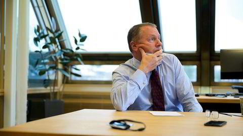 Nicolai Tangen ble intervjuet av DN på sitt kontor i forrige uke.