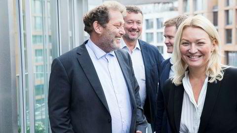 Frederic Hauge (fra venstre) ønsket Pierre Herben, Pål Brun og Erle Kristin Wagle velkommen til Bellona denne uken. Sistnevnte er fast ansatt i ledergruppen.