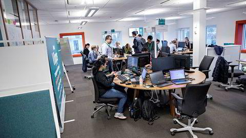 DNB har laget en egen digital etasje hvor alle digitale nyvininger som Vipps utvikles.
