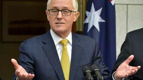 Australias statsminister Malcolm Turnbull beholdt jobben.