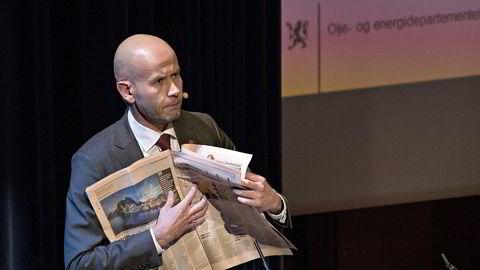Olje- og energiminister Tord Lien mener oljebransjen er i ferd med å treffe bunnen løpende.                   Foto: Aleksander Nordahl
