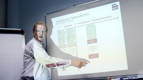 Administrerende direktør Tore Etholm-Idsøe i Next Biometrics. Foto: MIKAELA BERG