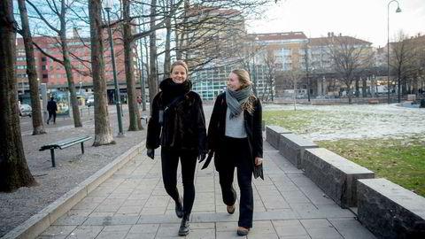 Sophie Werenskiold (til venstre) og Kristina Enger leder henholdsvis Ansa Tyskland og Ansa Sveits. De mener det er merkelig at norske bedrifter ikke verdsetter internasjonal kompetanse når de rekrutterer.