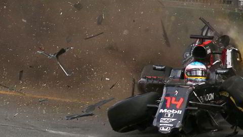 Formel 1-satsingen ble et bomskudd for Oljefondet, og den planlagte børsnoteringen ble avlyst. Her fra australske Formel 1 Grand Prix i mars, hvor spanske Fernando Alonso kom uskadet fra kollisjon. Foto: Max Blyton/AFP/NTB Scanpix