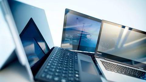 De tre hybridene vi har testet har i motsetning til nettbrett Windows operativsystem, og kan derfor brukes som en vanlig datamaskin. Foto: Ida von Hanno Bast