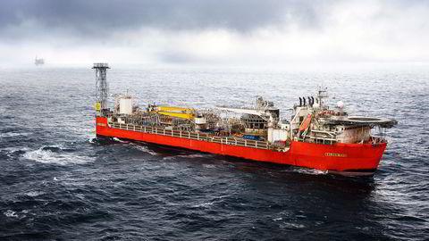Exxons produksjonsskip på Balder-feltet i Nordsjøen, 190 kilometer vest for Stavanger. Selskapet eier feltet 100 prosent