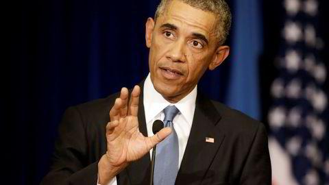I TALLINN. Barack Obama reagerer sterkt på angrepet på amerikanske journalister. Foto: Ints Kalnins, Reuters, NTB Scanpix.