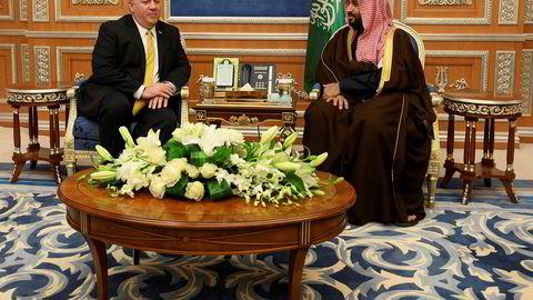 USAs utenriksminister Mike Pompeo ber Saudi-Arabias leder Mohammed bin Salman få slutt på krigen i Jemen.