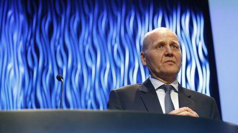Telenor-sjef Sigve Brekke. Telenor-aksjen faller fredag morgen, etter at det ble kjent at selskapet har solgt Vimpelcom-aksjer for fire milliarder kroner. Foto: Fredrik Bjerknes