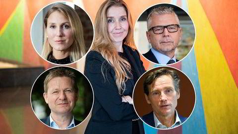 Flere analytikere, forvaltere og økonomer har tatt i bruk nye og alternative metoder for å ligge i tet. Øverst fra venstre: Erica Blomgren Dalstø, Anette Hjertø, Erik Bruce, Pål Ringholm og Robert Næss.