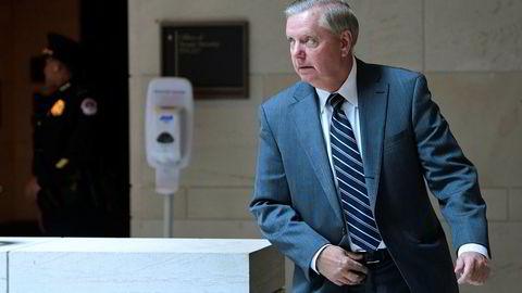 Lindsey Graham var en av dem som reagerte kraftig etter et lukket møte der CIA-sjefen orienterte ledende senatorer om drapet på Jamal Khashoggi. Han er en av forslagsstillerne bak den tverrpolitiske resolusjonen.