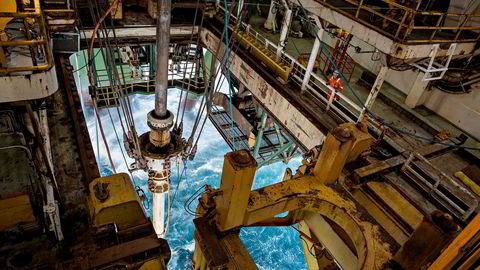 Her fra Barentshavet og oljeriggen «Leiv Eiriksson», eid og driftet av selskapet Ocean Rig, som er i ferd med å bli kjøpt opp av Transocean.