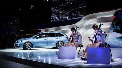 Yoshida Brothers spiller under debuten til Subaru Levorg i Geneve