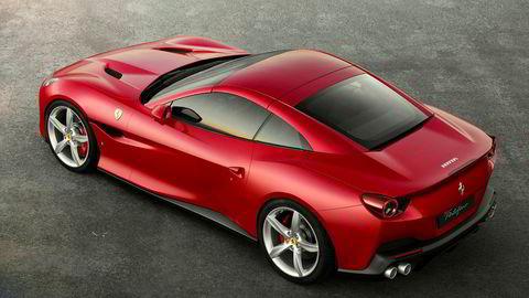 Dette er den nye modellen Portofino fra Ferrari.