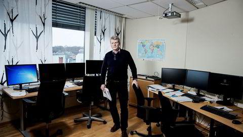 I dette rommet hos Økokrim behandles noen av hvitvaskingstipsene som strømmer inn fra banker og eiendomsmeglere. Enheten for finansiell etterretning, som ledes avSven Arild Damslora, analyserer meldingene.