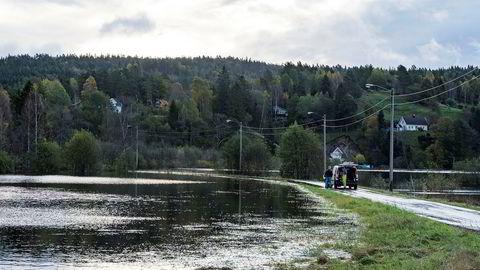 På Sørlandet har man flommen i begynnelsen av oktober friskt i minne – som her på Drangsholt i Kristiansand.
