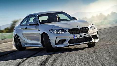 Bakhjulsdrift og 410 hestekrefter sørger for at BMW M2 Competition kan kjøre på denne måten.