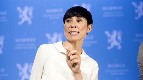 Forsvarsminister Ine Eriksen Søreide (H). Foto Mikaela Berg