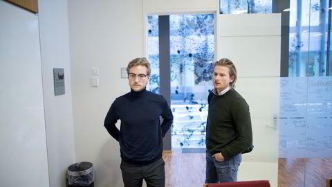 Oscar Hellenes (23) i Lotel og Kim Haagensen (31) i WeClean er begge gründere i delingsøkonomien. Foto: