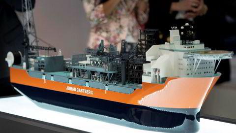 Modell av produksjonsskipet til Johan Castberg-feltet på ONS i Stavanger i 2016.