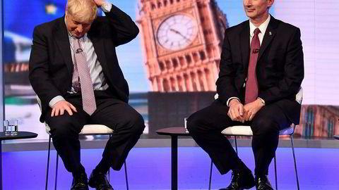 Boris Johnson og Jeremy Hunt appear på BBC-debatt tidligere denne uken.