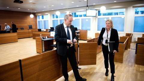 Tidligere konserndirektør Hallgeir Storvik i Yara ble onsdag grillet av førstestatsadvokat Marianne Djupesland.                    Foto: Per Ståle Bugjerde