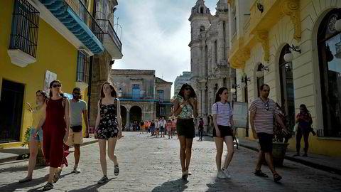 USA strammer til mot Cuba. Her fra gamlebyen i Havana.