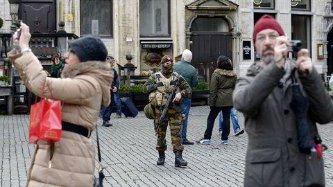 Brussels gater har vært preget av høynet terrorberedskap denne helgen. Grand Place in Brussels Foto: John Thys, AFP/ NTB Scanpix