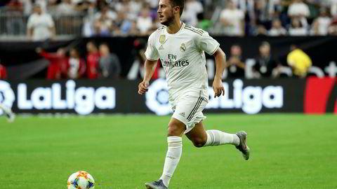 Troner øverst: Etter to år utenfor topplassen, er Real Madrid nå den mest verdifulle fotballklubben i verden. Her ved nysigneringen Eden Hazard, som kom fra Chelsea i sommer.