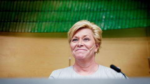 Finansminister Siv Jensen har i dag lagt frem revidert nasjonalbudsjett.