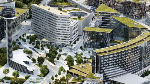 Comfort-hotellet med 463 rom på Arlanda flyplass i Stockholm skal etter planen stå ferdig i 2019. Illustrasjon: Nordic Choice