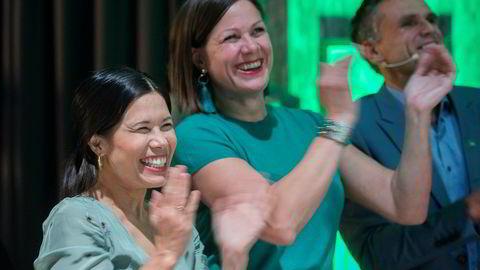 Oslobyrådene Lan Marie Nguyen Berg, Hanna Elise Marcussen jubler etter brakvalg, og gjør seg klar til forhandlinger om Oslos fremtid.